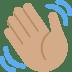 👋🏽 waving hand: medium skin tone Emoji on Twitter Platform