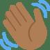 👋🏾 waving hand: medium-dark skin tone Emoji on Twitter Platform