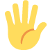 🖐️ hand with fingers splayed Emoji on Twitter Platform