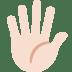 🖐🏻 hand with fingers splayed: light skin tone Emoji on Twitter Platform