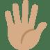 🖐🏽 hand with fingers splayed: medium skin tone Emoji on Twitter Platform