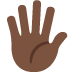 🖐🏿 hand with fingers splayed: dark skin tone Emoji on Twitter Platform