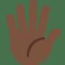 🖐🏿 Dark Skin Tone Hand With Fingers Splayed Emoji on Twitter Platform