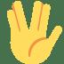🖖 vulcan salute Emoji on Twitter Platform