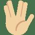 🖖🏼 vulcan salute: medium-light skin tone Emoji on Twitter Platform