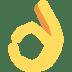 👌 OK hand Emoji on Twitter Platform