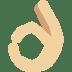 👌🏼 Medium-Light Skin Tone OK Hand Emoji on Twitter Platform