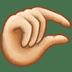 🤏🏻 pinching hand: light skin tone Emoji on Twitter Platform