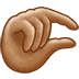 🤏🏽 pinching hand: medium skin tone Emoji on Twitter Platform