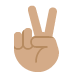 ✌🏽 victory hand: medium skin tone Emoji on Twitter Platform