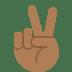 ✌🏾 victory hand: medium-dark skin tone Emoji on Twitter Platform