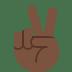 ✌🏿 victory hand: dark skin tone Emoji on Twitter Platform