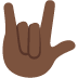 🤟🏿 love-you gesture: dark skin tone Emoji on Twitter Platform