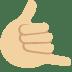 🤙🏼 Medium-Light Skin Tone Call Me Hand Emoji on Twitter Platform