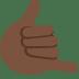 🤙🏿 Dark Skin Tone Call Me Hand Emoji on Twitter Platform