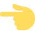 👈 backhand index pointing left Emoji on Twitter Platform