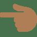 👈🏾 backhand index pointing left: medium-dark skin tone Emoji on Twitter Platform