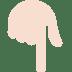 👇🏻 backhand index pointing down: light skin tone Emoji on Twitter Platform