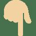 👇🏼 backhand index pointing down: medium-light skin tone Emoji on Twitter Platform