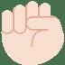 ✊🏻 raised fist: light skin tone Emoji on Twitter Platform