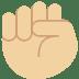 ✊🏼 Medium-Light Skin Tone Raised Fist Emoji on Twitter Platform