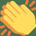 👏 Klatschende Hände Emoji auf Twitter-Plattform