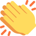 👏 Applauso Emoji sulla Piattaforma Twitter