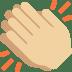 👏🏼 clapping hands: medium-light skin tone Emoji on Twitter Platform