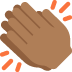 👏🏾 clapping hands: medium-dark skin tone Emoji on Twitter Platform