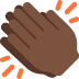 👏🏿 clapping hands: dark skin tone Emoji on Twitter Platform