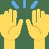 🙌 Mains lévées Emoji sur la plateforme Twitter