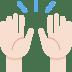 🙌🏻 Light Skin Tone Raising Hands Emoji on Twitter Platform