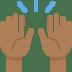 🙌🏾 raising hands: medium-dark skin tone Emoji on Twitter Platform