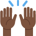 🙌🏿 raising hands: dark skin tone Emoji on Twitter Platform