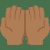 🤲🏾 palms up together: medium-dark skin tone Emoji on Twitter Platform