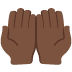 🤲🏿 palms up together: dark skin tone Emoji on Twitter Platform