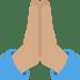 🙏🏽 folded hands: medium skin tone Emoji on Twitter Platform