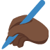 ✍🏿 writing hand: dark skin tone Emoji on Twitter Platform