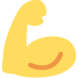 💪 Flexed Biceps Emoji on Twitter Platform
