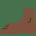 🦶🏿 foot: dark skin tone Emoji on Twitter Platform