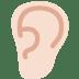 👂🏻 ear: light skin tone Emoji on Twitter Platform