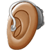 🦻🏽 ear with hearing aid: medium skin tone Emoji on Twitter Platform