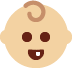 👶🏼 baby: medium-light skin tone Emoji on Twitter Platform