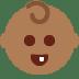 👶🏾 Medium Dark Skin Tone Baby Emoji on Twitter Platform