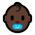 👶🏿 baby: dark skin tone Emoji on Windows Platform