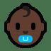 👶🏿 Dark Skin Tone Baby Emoji on Windows Platform