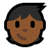 🧒🏾 child: medium-dark skin tone Emoji on Windows Platform