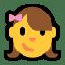 👧 girl Emoji on Windows Platform