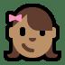 👧🏽 girl: medium skin tone Emoji on Windows Platform