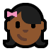 👧🏾 girl: medium-dark skin tone Emoji on Windows Platform